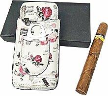 WDL-shop Zigarrenetui aus Leder, Zedernholz