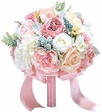 WDOIT Brautjungfer Blumenstrauß Satin Hochzeit