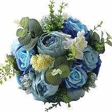 WDOIT Brautjungfer Blumenstrauß Satin