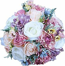 WDOIT Brautstrauß Hochzeit Blumenstrauß Satin