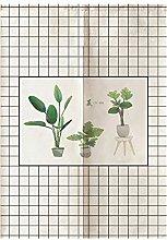 WDOIT Pflanze Tapisserie Vorhang Tür Vorhang