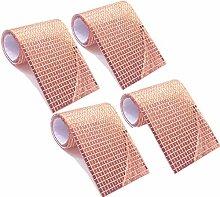 WDragon 4800 Stück Mosaikfliesen in Rotgold,