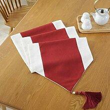 WDSJZQ Tischläufer, Chinesische Moderne Rot