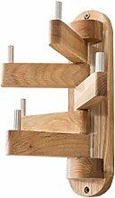 Wdx-Garderobe Kreative Holz Spin Kleidung Hängende Einfache Schlafzimmer Eiche Mantel Haken Wandbehang Baum Mantel Rack Kleiderbügel (Farbe : A)