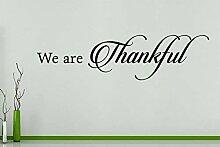 We Are Thankful - Spruch Spruch Wörter