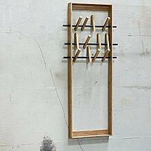 WE DO WOOD Wandgarderobe / Kindergarderobe COAT FRAME, Bambus Holz, natur