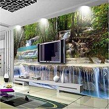 Weaeo 3D Fototapete Natur Wasserfall Wandbild Für