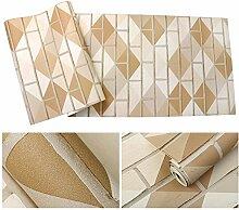 Weaeo 3D Geometrische Muster Backstein Tapete