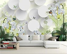 Weaeo 3D Wallpaper Clivia Ornament Tv Wand