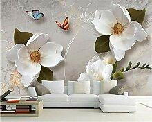 Weaeo 3D Wallpaper Europäische Retro Blumen