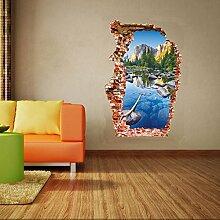 Weaeo 3D-Wand Wand Aufkleber Bunt Teich Dekoration