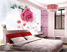 Weaeo Benutzerdefinierte Blumen Tapete 3D, Rose