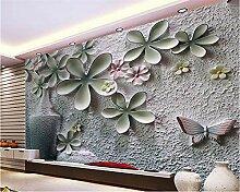 Weaeo Benutzerdefinierte Tapete 3D Relief Wand