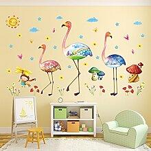 Weaeo Cartoon Bunt Bizarren Flamingo Pilz Zimmer