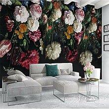 Weaeo Europäische Retro Handgemalte Blumen Tv