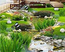 Weaeo Garten Gras Wasser Karpfen Teppiche 3D Boden