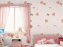 Weaeo Kinder- Zimmer Warme Und Romantische Liebe Tapete Selbstklebende Sticker Schlafzimmer Gewebt Kinderzimmer Pink