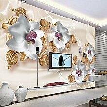 Weaeo Luxus 3D Schmuck Blumen Tv Hintergrund Wand