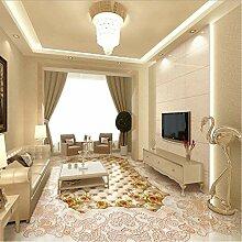 Weaeo Marmor Textur Parkettboden 3D Boden