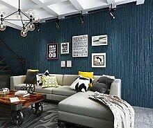 Weaeo Moderne, Einfache Plain Woven Tapeten Blau Grau Esszimmer Tapete Blau