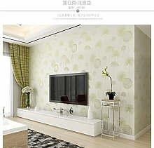 Weaeo Pastorale Wallpaper 3D Vliestapeten Schlafzimmer Voll Salon Hintergrund Hellgrün