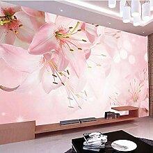 Weaeo Romantische Rosa Lilie Blumen Fototapete