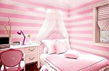 Weaeo Schlafzimmer Tapete Gestreifte Tapete Im Schlafzimmer Der Kinder- Zimmer Rosa