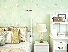 Weaeo Schlafzimmer Tapete Vlies Umweltschutz Tapeten Für Kinderzimmer Grün