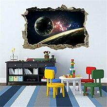 Weaeo Weltraum 3D Planeten Wand Aufkleber Für