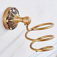 Weare Home Badezimmer Accessoires Haartrockner alle Bronze Antike Vintage Retro Stil Deko Design Wandmontag Wandhalterung Bohren geschnitz