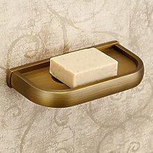Weare Home Bohren Vintage Luxus Retro Gelb Badezimmer Accessoires Seifenhalter Seifenschale aus hochwertig Bronze Wandmontag