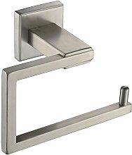Weare Home Hochwertig Silbern Badezimmer Accessoires Elegant gebürstet Toilettenpapierhalter Toilettenpapierring aus rostfrei Edelstahl Wandmontag