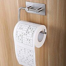 Weare Home Modern Stil Toilettenpapierhalter Rollenpapierhalter Tissue Halter Küchepapierhalter aus 304 Edelstahl 3M Klebstoff ohne Deckel zur Wandmontage ohne Bohren Rostfrei Haltbar Badzubehör Badaccessoires Dekor für Küche