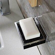 Weare Home Modern Stil Viereck Seifenhalter Seifenschale aus 304 Edelstahl 3M Klebstoff zur Wandmontage ohne Bohren Rostfrei Haltbar Badzubehör Badaccessoires Dekor für Küche