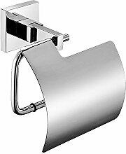 Weare Homen Badezimmer Accessoires Modern Einfach Wandmontag Toilettenpapierhalter Toilettenrollenhalter Klorollenhalter mit Deckel aus 304 Edelstahl