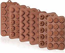 Webake Pralinenform für Süßigkeiten, 6 Stück,
