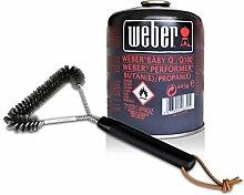 Weber Grill Set Dreiseitige Grillbürste 30 cm - Weber Gas Kartusche für Q 100 Serie