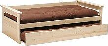 Weber Industries Toledo Ausziehbett H 201,5x 100,5x 62,5cm, naturholz, one size