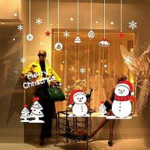 Webla Weihnachten Fenstersticker, Fensteraufkleber