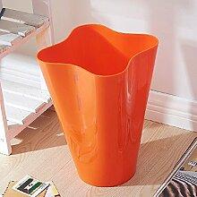 WEBO HOME- Dickere Mülleimer Mode Kreative Haushalt Lagerung Fässer -Mülleimer ( Farbe : Orange )