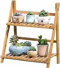 WEBO HOME- Holz Massivholz Boden - Typ Multi - Layer - Klapp - Blumen Regal Innen Balkon Blumentopf Rack -Regal