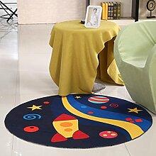 WEBO HOME- Runde Matten Computer Stuhl Kissen Schwenkkissen Korb Kinder kriechende Decken -Teppich ( Farbe : 4# , größe : 120cm )