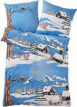 Webschatz Biber Bettwäsche Winterabend 2tlg.