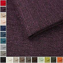 Webstoff Strukturstoff Portland - Möbelstoff Polsterstoff Uni Meterware - violett 65