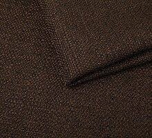 Webstoff Strukturstoff Portland - Möbelstoff Polsterstoff Uni Meterware - dunkel braun 27
