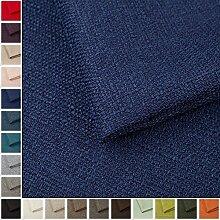Webstoff Strukturstoff Portland - Möbelstoff Polsterstoff Uni Meterware - dunkel blau 80