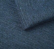 Webstoff Strukturstoff Portland - Möbelstoff Polsterstoff Uni Meterware - blau 81