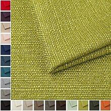 Webstoff Strukturstoff Portland - Möbelstoff Polsterstoff Uni Meterware - grün 35