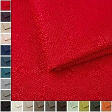 Webstoff Strukturstoff Portland - Möbelstoff Polsterstoff Uni Meterware - rot 60