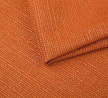 Webstoff Strukturstoff Portland - Möbelstoff Polsterstoff Uni Meterware - orange 51